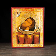 Precious Head of John the Baptist Icon - S133
