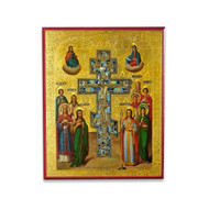 Cross of Christ With Saints Icon - F206