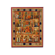 Great Feasts (XVIIIc) Icon - F208
