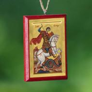 Christ / Saint George Car Mirror Icon
