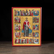 Saint Willibrord with Scenes Icon - S268