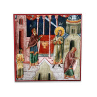 Publican and Pharisee (XIVc) Icon - F224