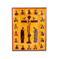 Christ Crucified (With Saints) Icon - F114