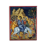 Entry Into Jerusalem (Palm Sunday) (Athos) Icon - F241