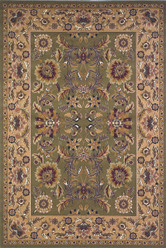 KAS Cambridge 7304 Green Taupe Kashan