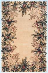 KAS Emerald 9022 Ivory Tropical Border