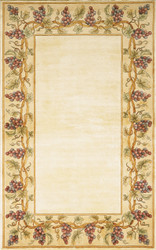 KAS Emerald 9058 Ivory Grapes Border