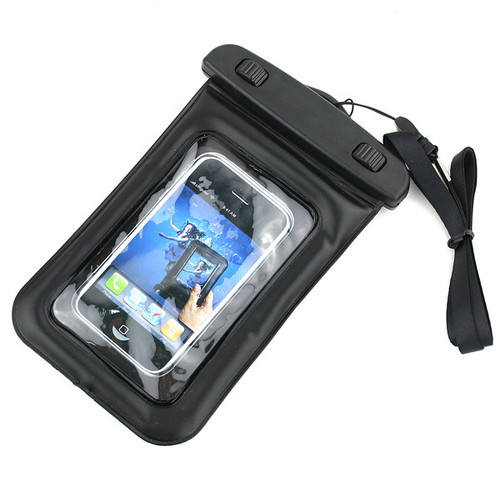 waterproof plastic pouch with a lanyard for easy carrying