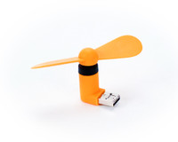 Travelling Portable Mini USB Fan Air Cooling Fan for android smartphones (Orange)