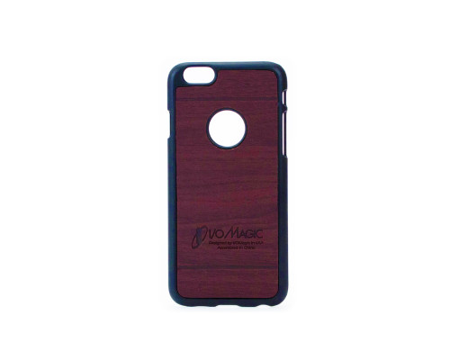 Dark Brown Thin Wood Grain Hard Back Rigid Plastic Case for Apple iPhone 6