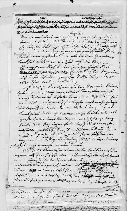 Samuel Hahnemann Manuscript