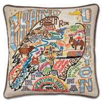 Grand Canyon Embroidered Pillow