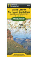 National Geographic: Grand Canyon North and South Rims Map