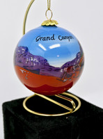 Christmas Ornament Grand Canyon Mules Painted Glass
