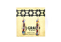 Earrings Navajo Beadwork Corn Dangle