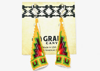 Earrings Navajo Beadwork Cone Dangles