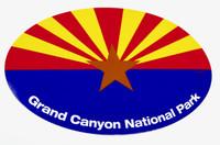 Grand Canyon National Park Arizona Flag Sticker
