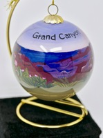 Christmas Ornament Grand Canyon Blooming Cactus Painted Glass