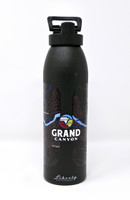 Grand Canyon Topo Map Water Bottle