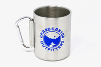 Go Hike the Canyon Grand Canyon Outfitters Stainless Steel Carabiner Mug Blue