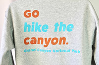 Go Hike the Canyon Hoodie Gray