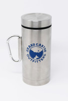 Go Hike the Canyon Grand Canyon Outfitters Stainless Steel Carabiner Travel Mug Blue