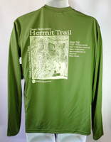CLEARANCE Hermit Trail Men's Shirt Green Long-Sleeved