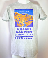 Men's Grand Canyon Centennial T-Shirt Closeout Color Heather Gray Size Small