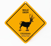 Grand Canyon Mule Deer Crossing Sign