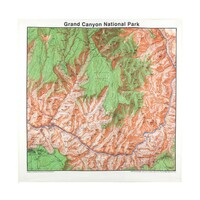 Grand Canyon Map Bandanna