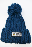 Grand Canyon Beanie Hat Blue with Pompom