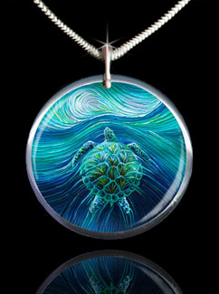 Turtle Spirit Energy Pendant