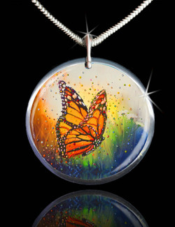 "Butterfly ""In The Moment"" Energy Pendant"