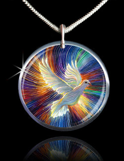 The Dove Of Hope Energy Pendant