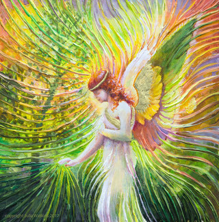 Angel Of Patience Positive Energy Painting - Giclee Print