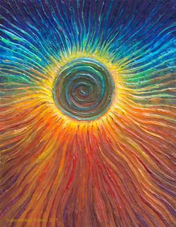 The Eclipse Spiritual Awakening Energy Painting - Giclee Print