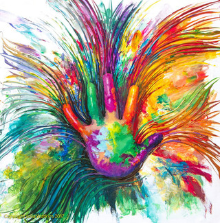 Inner Child Healing Energy Painting - Giclee Print