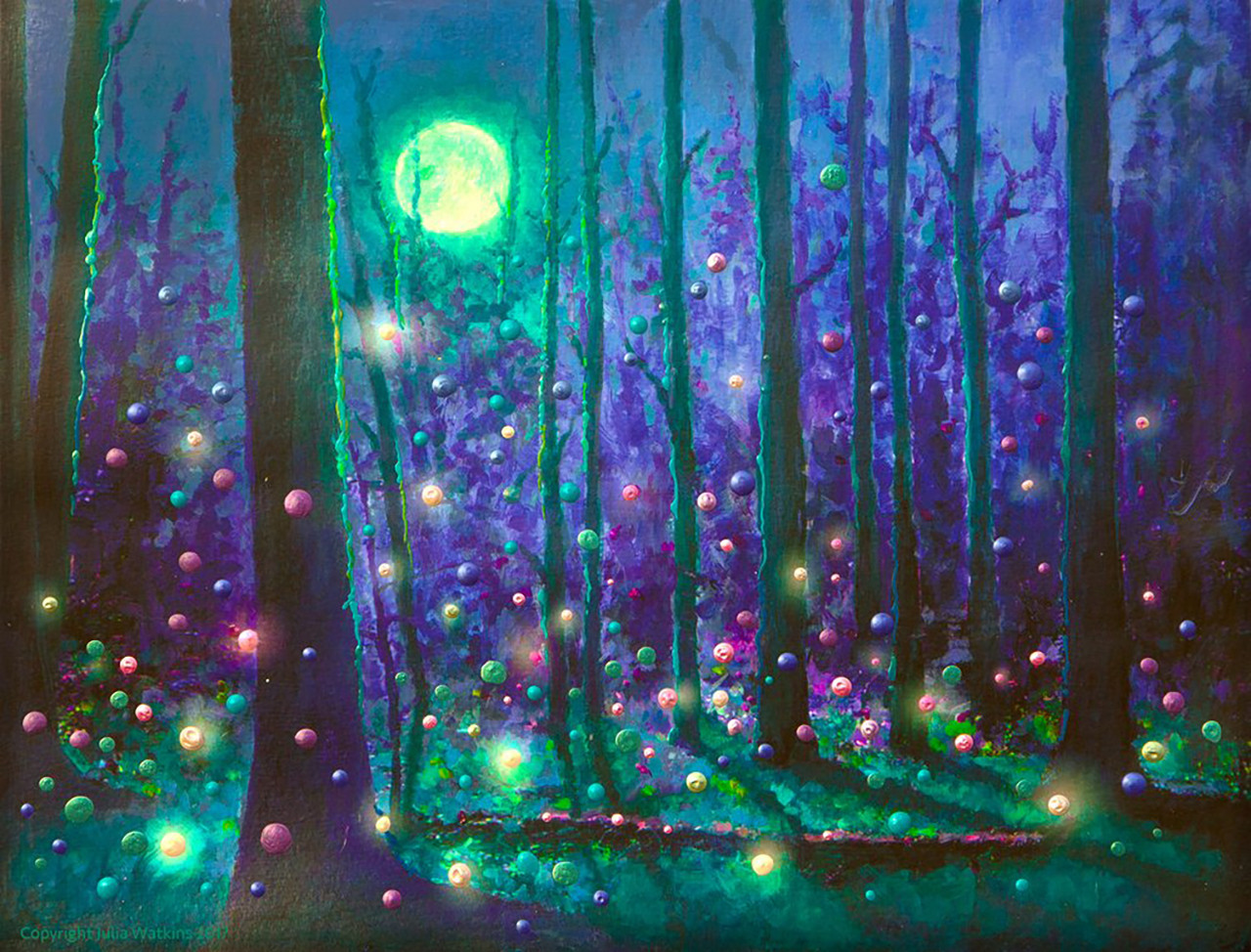 Fairy Forest Magical Energy Painting Giclee Print