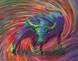 Mystic Bull Abundance Painting - Giclee Print