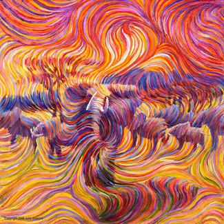 Elephant Spiritual Protector Energy Painting - Giclee Print