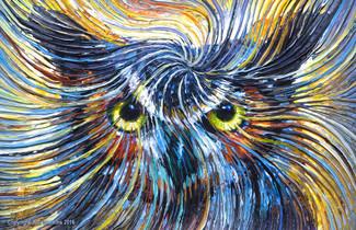 Owl Spirit Energy Painting - Giclee Print