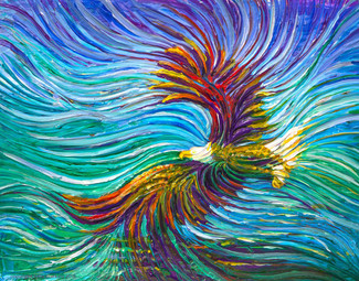 Spirit Eagle Energy Painting - Giclee Print