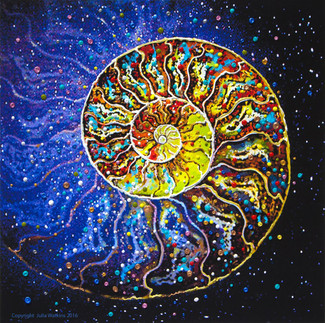 The Sacred Nautilus Energy Painting - Giclee Print