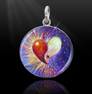 Yin Yang Heart Energy Charm