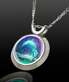 Dolphin Dance Energy Pendant - Magic Chi Collection