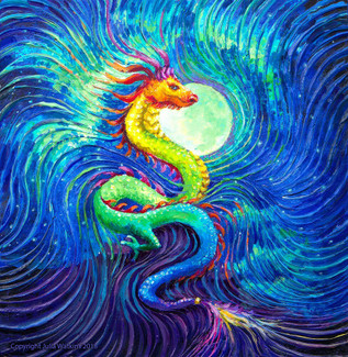 Dragon's Moon Energy Painting Giclee Print
