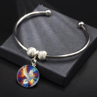 Dove Of Hope Energy Charm Bracelet