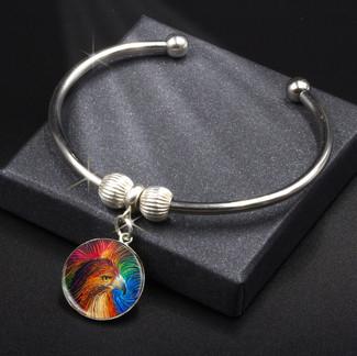 Spirit Hawk Energy Charm Bracelet