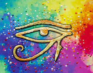 Eye Of Horus Spiritual Protection Energy Painting -  Giclee Print