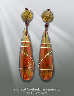 Stone Of Contentment  - Red Creek Jasper Earrings